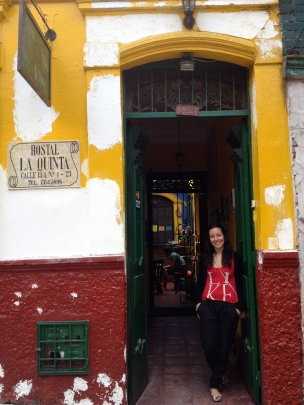 Our hostel in Candelaria