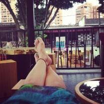 chillin in the hostel's balcony
