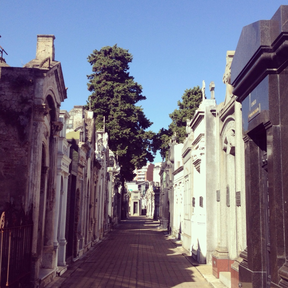 Extravagant tombs in the Recoleta Cemetary