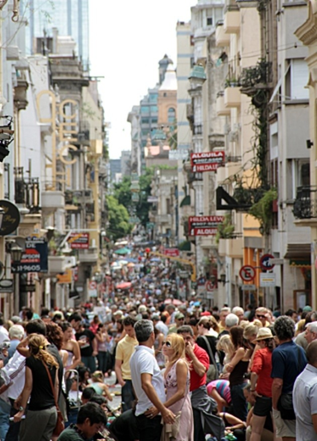 San Telmo street market that attracts thousands of people to this barrio on Sundays