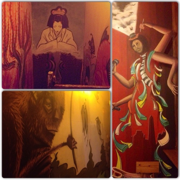 Some of the artwork on the walls of the Art Factory