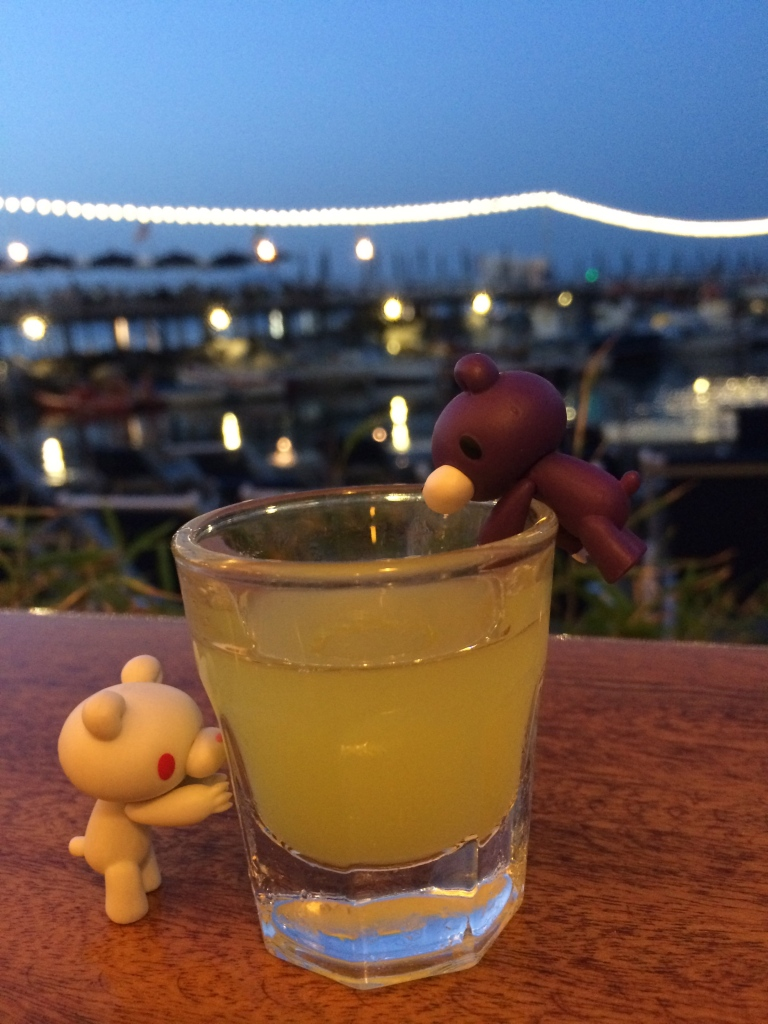 Aslita & Bandita getting drunk with limoncello.