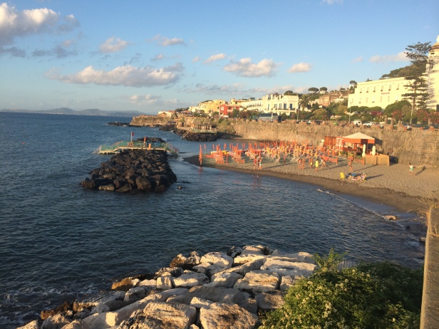 One of the many beaches on the island of Ischia