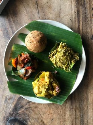 Yummy vegan lunch selection at Warung Sopa