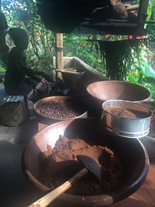 Luwak coffee making in progress