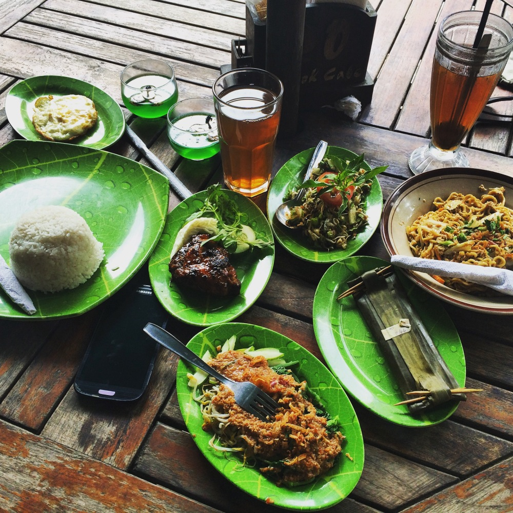 Traditional Indonesian lunch