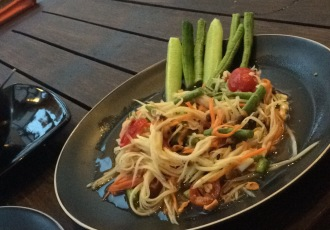 papaya salad (asked not spicy but still had 2 big chillies in it)