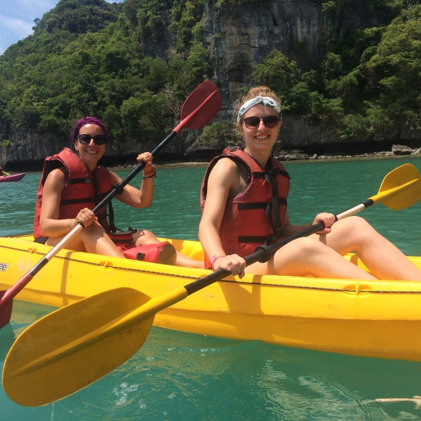 We kayaked from the boat to the beach where the National Park was located