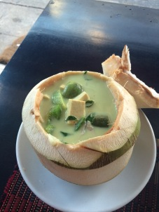 green curry in coconut
