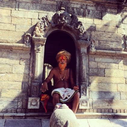 One of the Babas in Pashupatinath who was blessing people