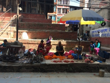 Street sellers in Thamel