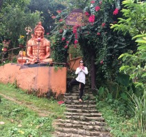 Shivalaya yoga in Begnas, which we stumbled upon by following a thousand steps