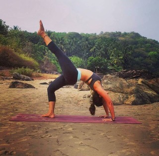 Yoga on the beach at Kudle beach