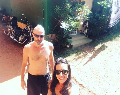 Our home in Goa! A small cottage style single house with all the amenities we needed.