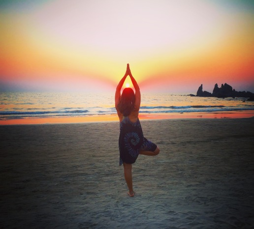 Sunset yoga in arambol