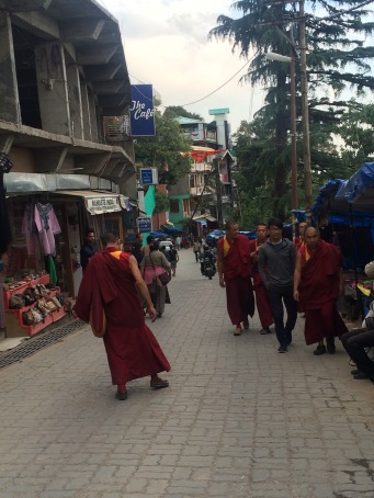 Typical street view in McLeod Ganj