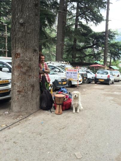 A hippie traveller in Kasol