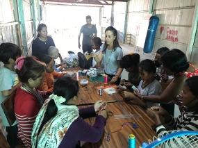 Macrame jewelry making workshop I gave in 2018
