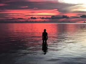 A red sunset at Zen Beach