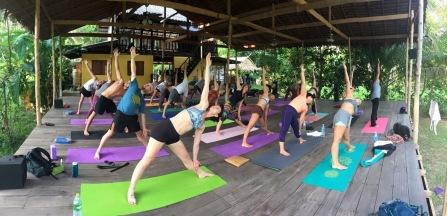Yoga TTC course in a beautiful jungle setting