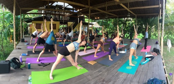 Yoga TTC course in a beautiful jungle setting