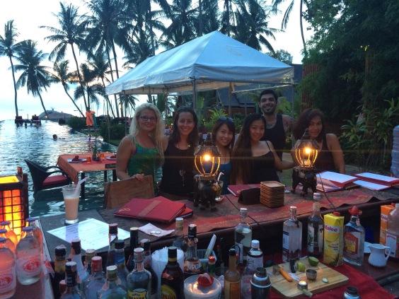 Birthday drinks at Kupu Kupu