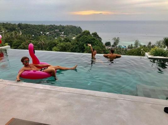 A friend's private pool