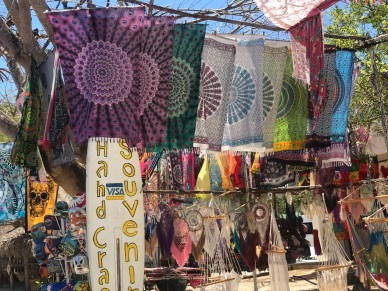 Dreamcatcher shops on the way to Coba