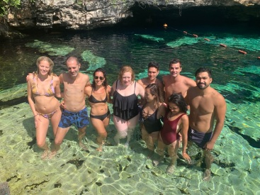 Hostel buddies at the cenote tour