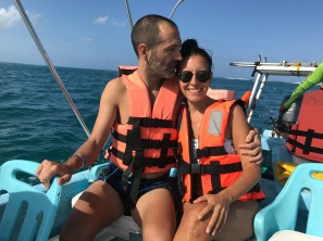 Safe love in life jackets